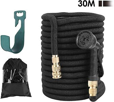 FIXKIT Garden Hose Expandable 100ft, Water Hose Pipe Made in 3 Layers of Latex