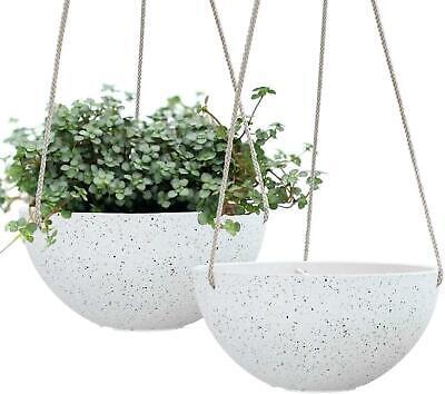 """Hanging Garden Planters for Plants - Flower Pots Outdoor, Indoor,  10 """", 2 Pack"""