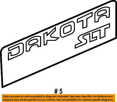 Dodge CHRYSLER OEM 03-04 Dakota Pickup Bed-Decal Sticker 5JN48GX9AB