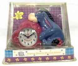 Disney Winnie the Pooh Eeyore Quartz Musical Alarm Clock - New in Box