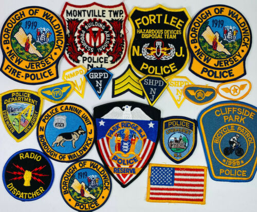 20 New Jersey Police K9 Bomb Bike Patches Collection NJ Patch Lot B