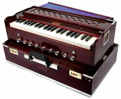 New Original Harmonica Professional 9 Stopper Portable Teak Harmonium with Bag