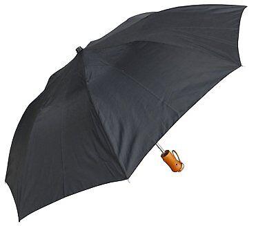 """Automatic Rain Compact Folding Portable Mini Umbrella Auto Open Close Black 42"""""""