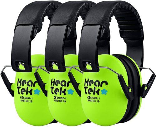 2 HEARTEK Kids Ear Protection Noise Reduction Children Protective Earmuffs Green