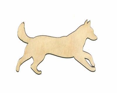 Huskey Dog (Siberian Huskey Dog Unfinished Wood Shape Cut Out S11195 Lindahl)