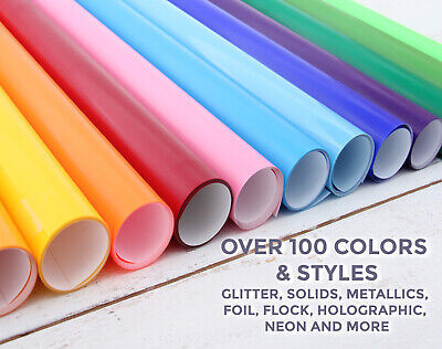 """12/"""" Adhesive Vinyl ,by precision62 Craft hobby//sign 40 Colors ,10 Rolls@ 5/' Ea."""