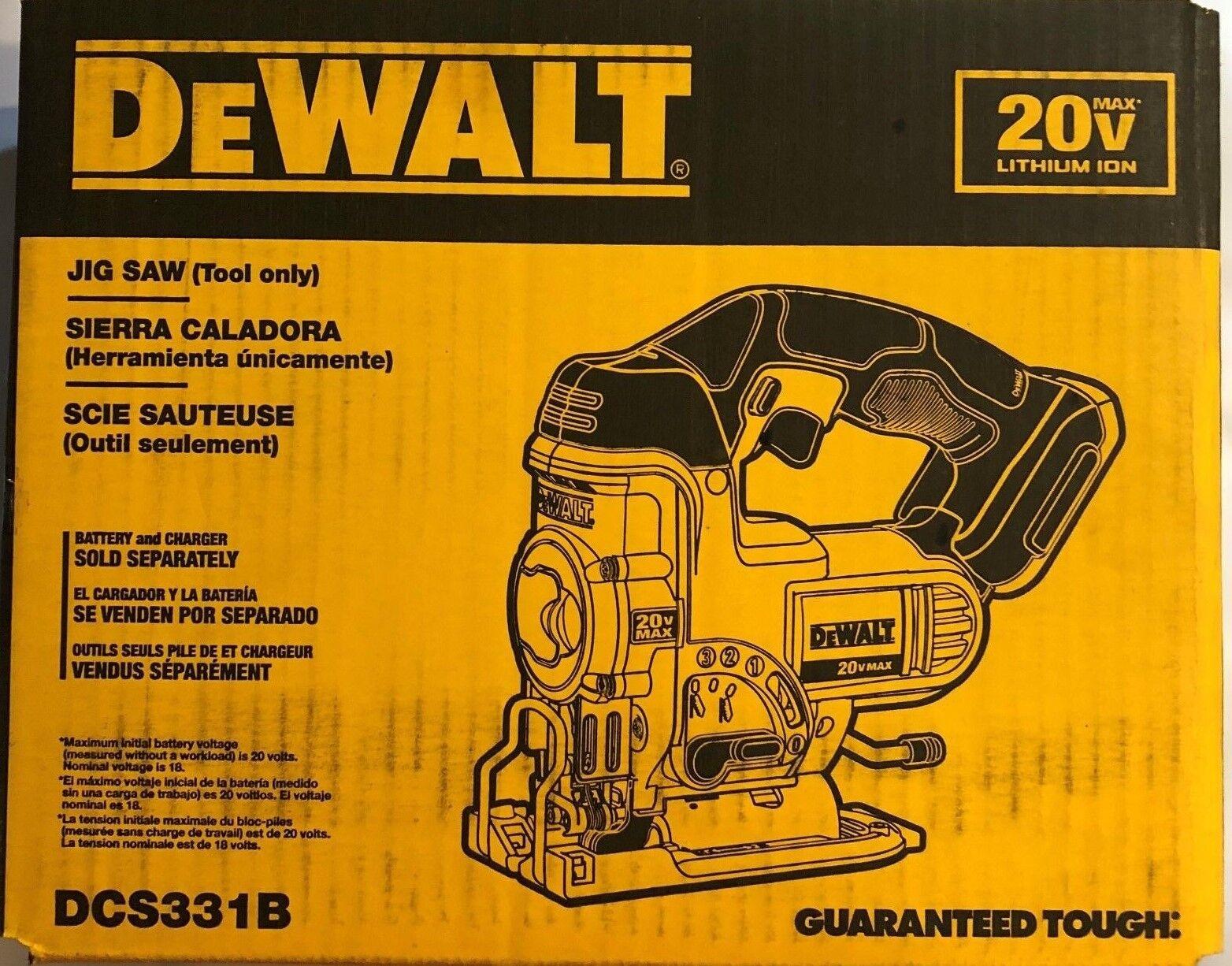 DEWALT DCS331B 20-Volt MAX Li-Ion Jig Saw  , Yellow