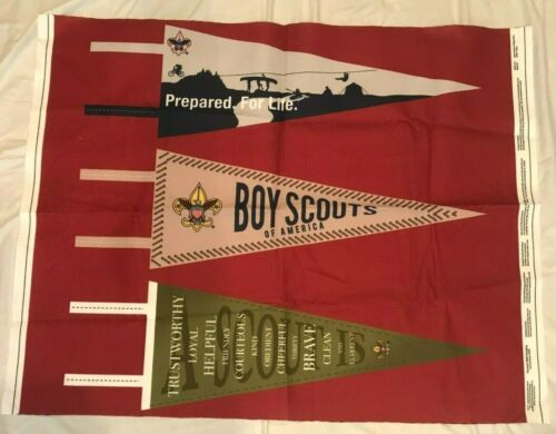 Boy Scouts Of America Pennant Wall Hanging Panel Felt Fabric Makes 3 Pennants