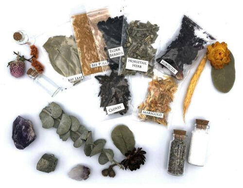 Set Of 15 Random Assorted Herbs Wicca Witchcraft Spells Metaphysical Supplies