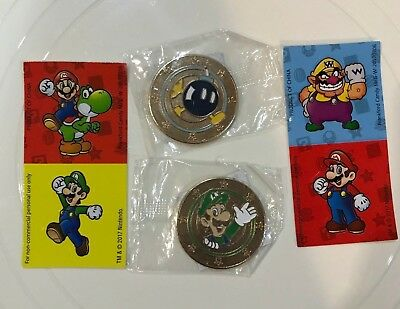 Nintendo Super Mario Wonder Ball Chocolate Candy Bob-omb and Luigi Coin