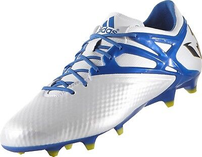 best sneakers 41036 798ff Adidas Messi 15.1 Fg Ag White Blue Black Soccer Shoes ( B34359 ) size 11.5