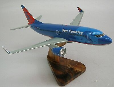 B 737 Sun Country Boeing B737 Airplane Desk Wood Model Free Shipping Regular New