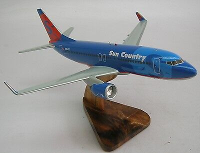 B 737 Sun Country Boeing B737 Airplane Desk Wood Model Free Shipping Regular New