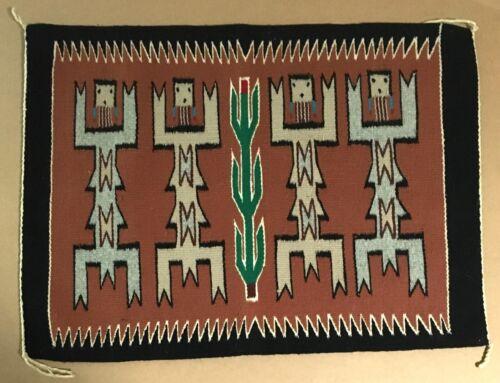"Vintage Yei Navajo Rug, 26"" x 19"", EUC"