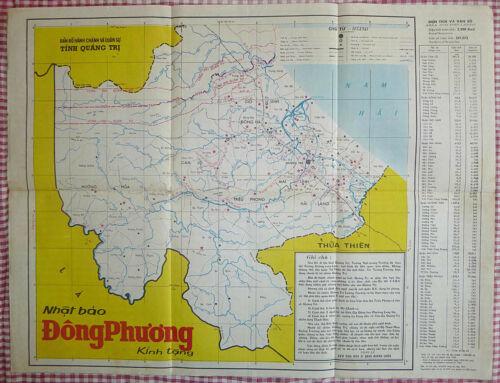 QUANG TRI - MAP - Highway 9 - DMZ - 1970 - Vietnam War - LAOS - DONG HA - CAM LO