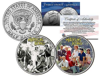 GILLIGAN'S ISLAND * TV SHOW * JFK Half Dollar 2-Coin Set Skipper Ginger - Gilligan's Island Skipper