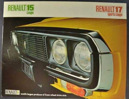 1972-1973 Renault 15 Coupe 17 Sports Coupe Catalog Brochure Excellent Original