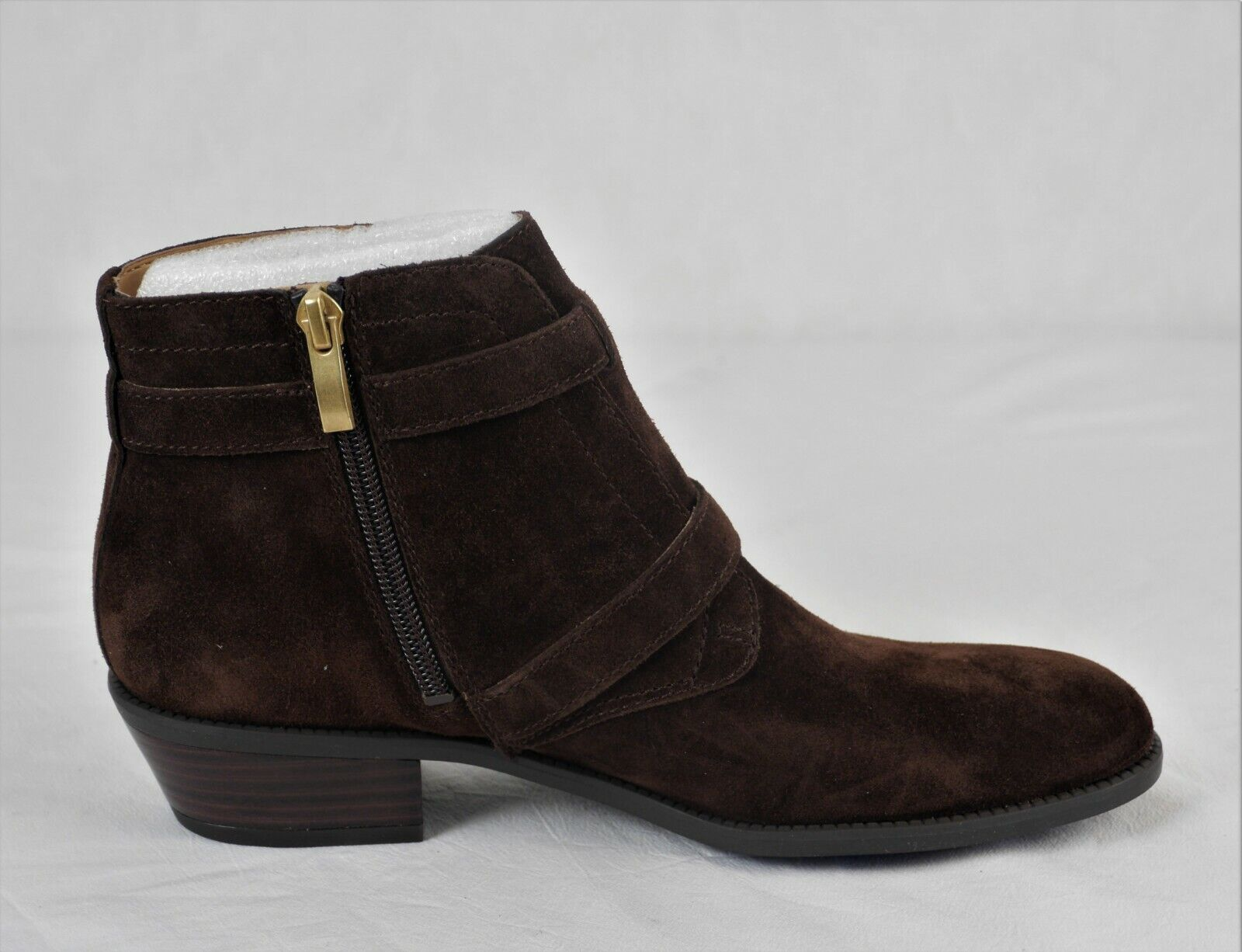 Franco Sarto Suede Ankle Boots Buckle Rynn Java 6M New