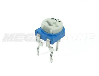 2 Pcs 500k Ohm Trimpot 6mm Linear Top Adjustment Variable Resistor Usa Seller