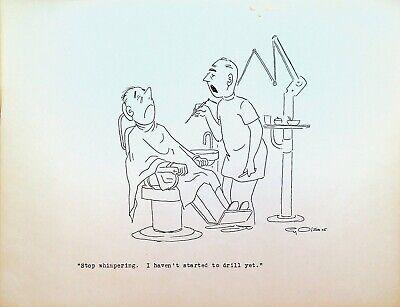 Dentista Oficina Taladro Paciente 1960s Cy Olson Original Arte