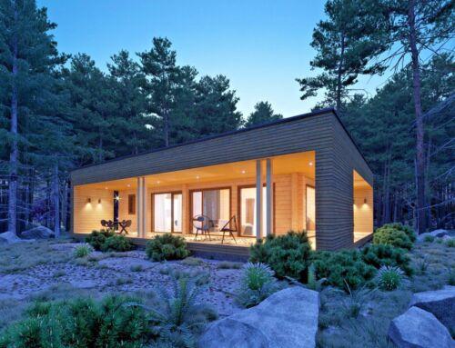 LOG HOUSE KIT #104 MAX ECO FRIENDLY WOOD PREFAB DIY BUILDING CABIN HOME MODULAR