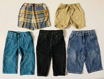 12-18 Month Boys 5 Piece Clothing Lot Infant Shorts Pants Denim Jeans Corduroy