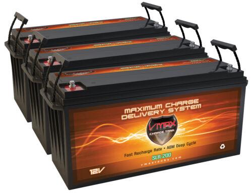 Qty (3) SLR200 Solar Wind Power Backup 600AH AT 12V deep cycle VMAX AGM Battery