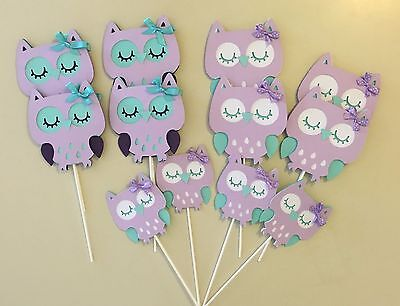 Owl Lavender and teal/ Owl purple lavender and teal/Owl baby shower/ Owl theme - Teal And Purple