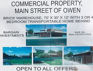 Commercial property and 3 bedroom home Owen Wakefield Area Preview