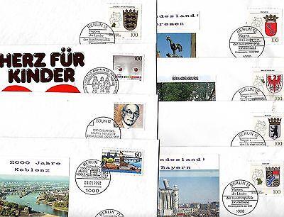 FDC BRD aus 1992-   KW  124,-- €  ( 32333 )