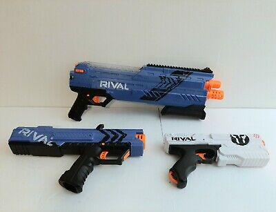 Nerf Rival Gun Blaster Lot Of 3 XVI-1200 XV-700 Apollo XV111-500 Kronos Works