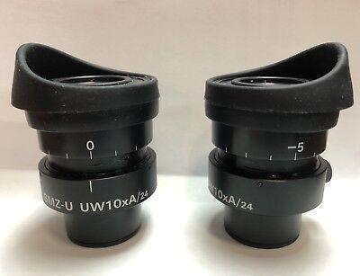 Nikon 30mm Microscope Eyepieces Smz-u Uw10xa24 Ultra Wide 10x Top Of The Line