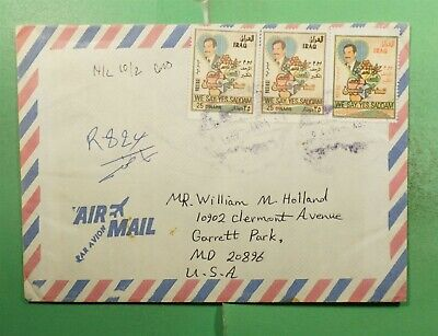 DR WHO IRAQ REGISTERED AIRMAIL TO USA  g14316