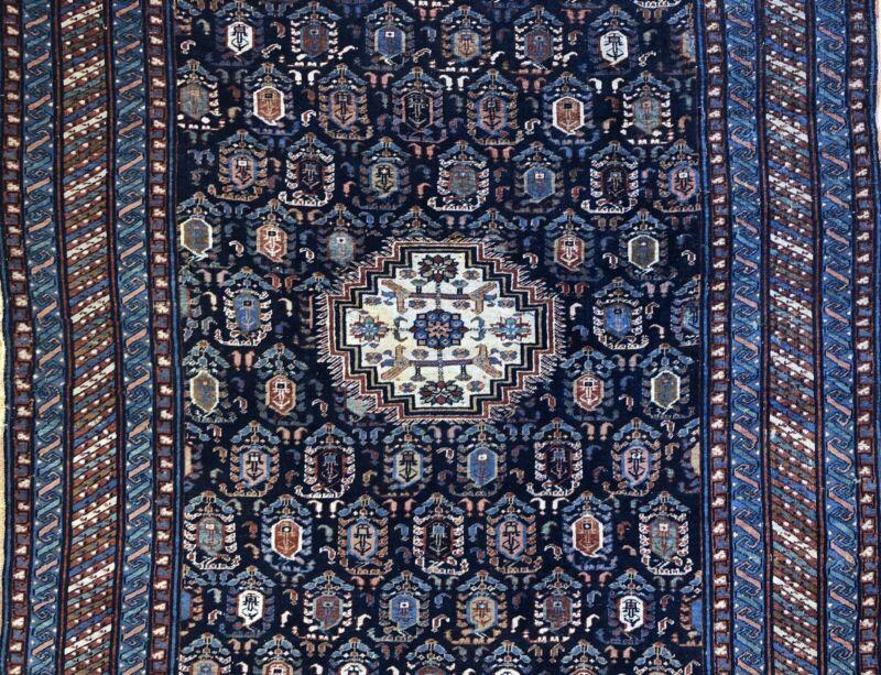 Marasali Moharramati - 1890s Antique Shirvan Rug - Caucasian Carpet - 4.7 X 7.2
