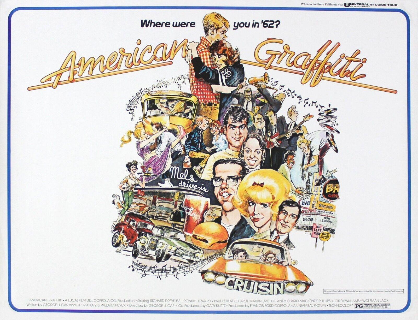 American Graffiti Classic Vintage Movie Poster Art Print A0 A1 A2 A3 A4 Maxi
