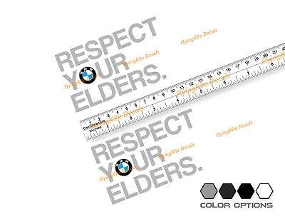 BMW Respect Your Elders Window Vinyl Sticker Decal Bimmer m3 m5 m6 E24 E28 E30  (Bmw M3 E30 Window)