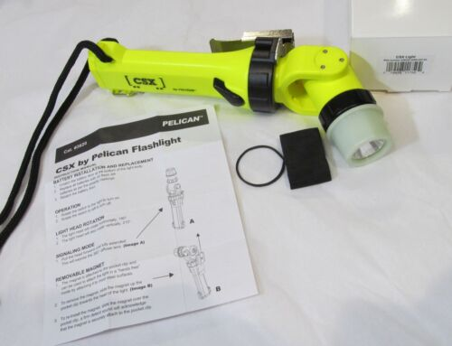 NEW PELICAN 3620 CSX DELUXE LED FLASHLIGHT SWIVEL/ANGLE/MAGNET/CLIP FIREFIGHTER