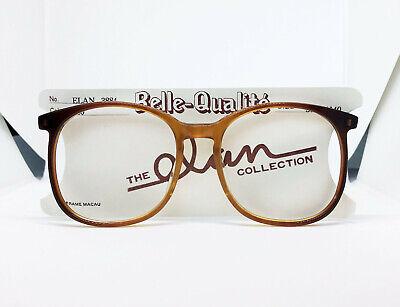 True Vintage NOS Belle-Qualite Elan Semi Clear Light & Dark Amber Eyeglass (True Dark Glasses)