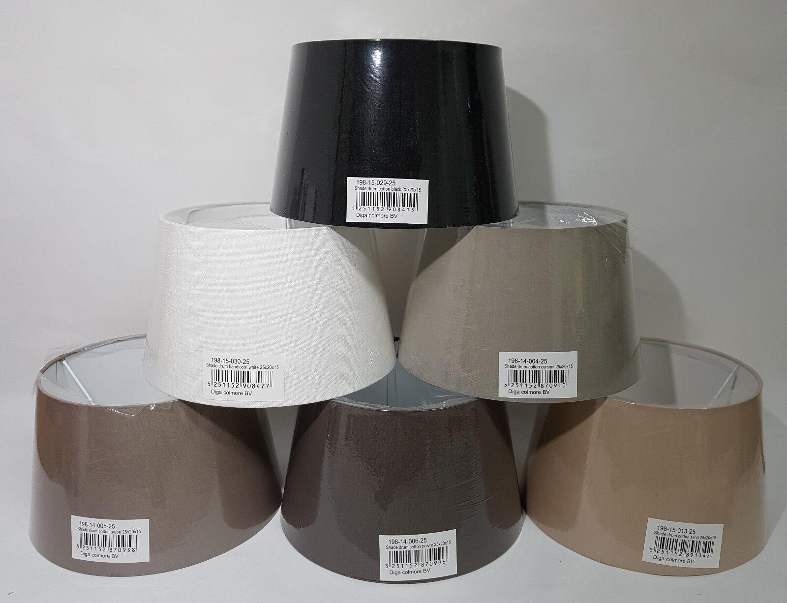 Lampenschirm für Stehlampe Stoff rund E 27 in 6 Farben von Colmore   25x20x15 cm