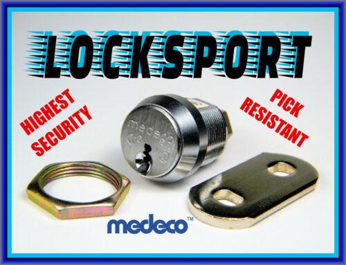 LOCKSPORT:  MEDECO® HIGH-SECURITY CAM CYLINDER FOR PICKING-MANIPULATING - NO KEY