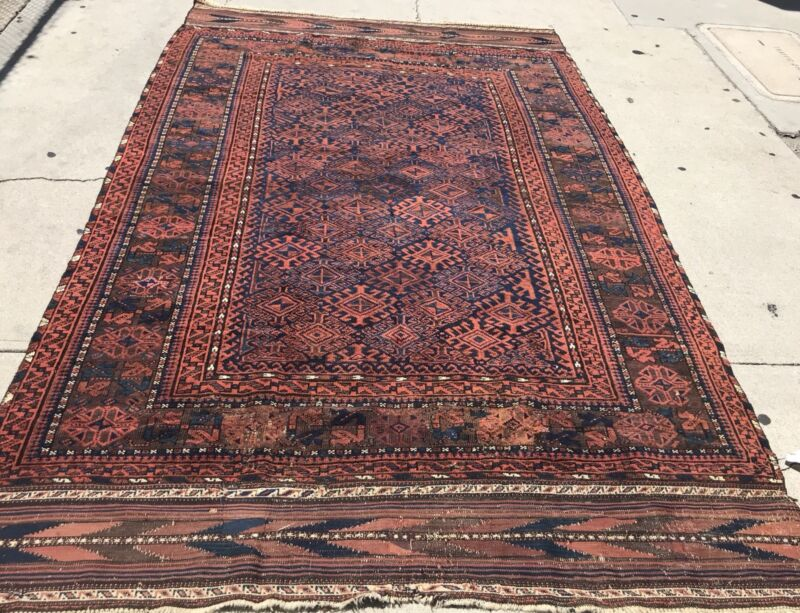 AN AWESOME UNUSUAL SIZE BALUCHSTAN RUG