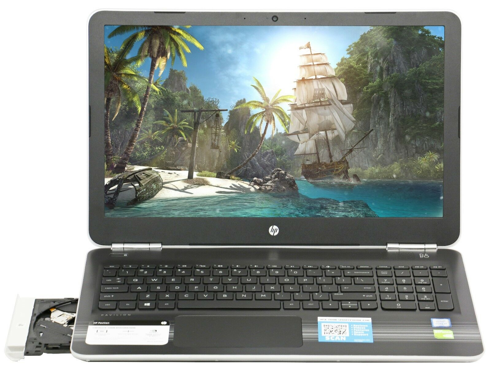 Купить HP - New HP 15.6 NVIDIA 940MX Intel i7-6500U 2.5GHz 1TB 12GB  Win 10 Gaming Laptop