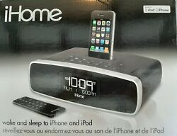 ihome iP90 Dual Alarm Clock Radio AM/FM Dock for iPod and iPhone