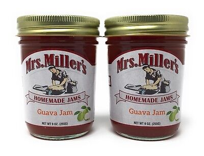Mrs Millers Guava Jam (Amish Made) 2 / 9 Oz. Jars, SHIPS FREE