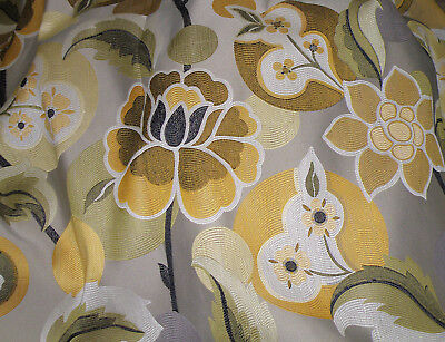 Oriental Style Designer Upholstery Floral Fabric & Coord Chenille -