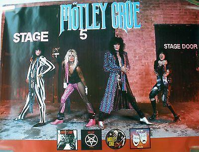 RARE MOTLEY CRUE 1985 VINTAGE ORIGINAL MUSIC RECORD STORE ALBUM PROMO POSTER