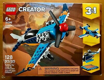 LEGO CREATOR PROPELLER PLANE 3 IN 1 SET #31099 (128 PIECES) AGES 6+ NEW