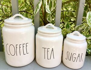 ⭐RAE DUNN BRAND NEW SET OF COFFEE, TEA,AND SUGAR CANISTERS⭐