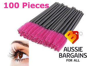 100x Disposable Eyelash Brush Mascara Wands Extension Applicator Spoolers Makeup