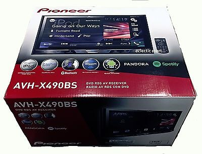 "NEW Pioneer AVH-X490BS 7"" 2-Din DVD/iPhone/ USB/ Bluetooth Rcvr! Pandora Spotify"